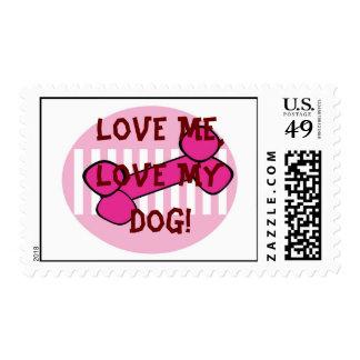 Dog BONE HOT PINK Stamp