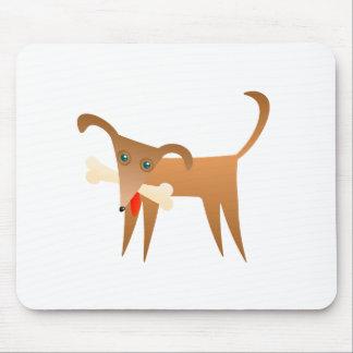 Dog & Bone Mouse Pad