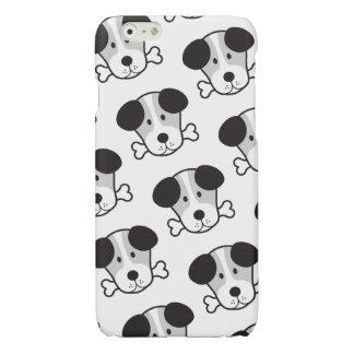 Dog & Bone Pattern (Cockney Rhyming Slang) B&W Glossy iPhone 6 Case