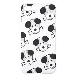 Dog & Bone Pattern (Cockney Rhyming Slang) B&W iPhone 7 Plus Case