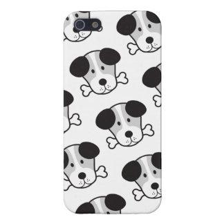 Dog & Bone Pattern (Cockney Rhyming Slang) B&W iPhone SE/5/5s Cover