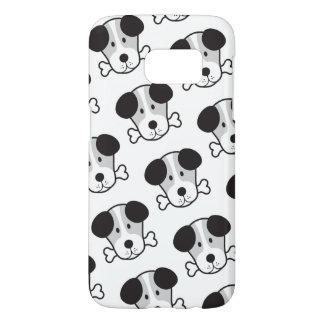 Dog & Bone Pattern (Cockney Rhyming Slang) B&W Samsung Galaxy S7 Case