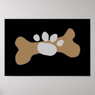 Dog Bone & Paw Print