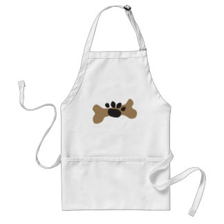 Dog Bone & Paw Print Adult Apron