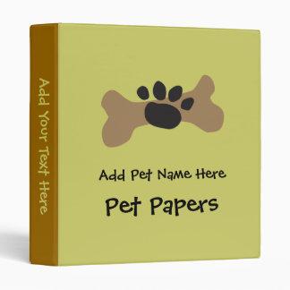 Dog Bone & Paw Print Binder