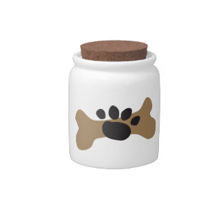 Dog Bone & Paw Print Candy Dishes