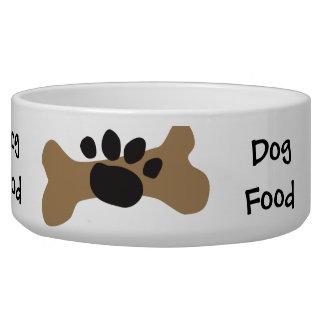 Dog Bone & Paw Print Dog Bowl