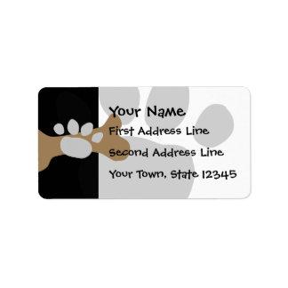 Dog Bone & Paw Print Custom Address Labels