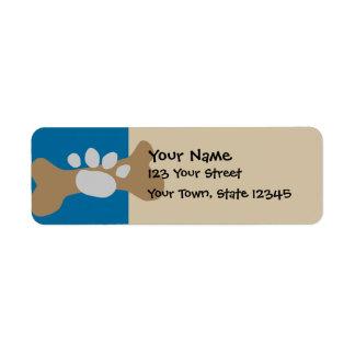 Dog Bone & Paw Print Label
