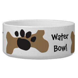 Dog Bone & Paw Print Dog Water Bowls
