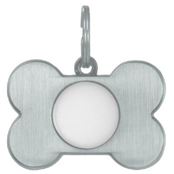 Dog Bone Pet Tag Custom Burnished Silver by creativeconceptss at Zazzle