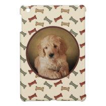 Dog Bone Print Custom Pet Photo iPad Mini Cover