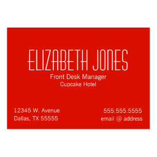 Dog Bone Red Striped Chubby Business Cards