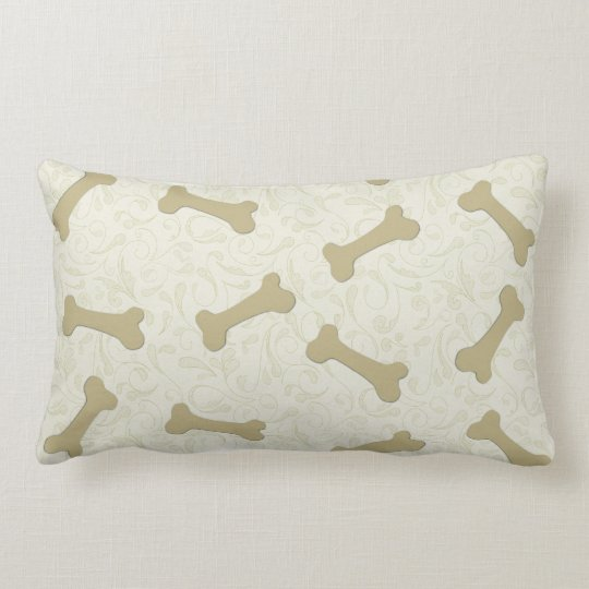 Red Dog Throw Pillows : Dog Bones Throw Pillows Zazzle