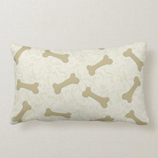Throw Pillows Dog : Dog Bones Throw Pillows Zazzle