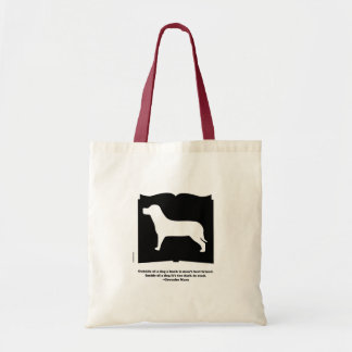 Dog Book Groucho Quote Tote Bag