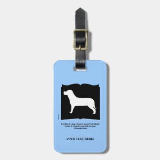 Dog Book Groucho Quote Bag Tag