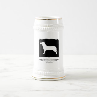 Dog Book Groucho Quote Beer Stein
