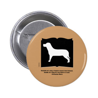 Dog Book Groucho Quote Button