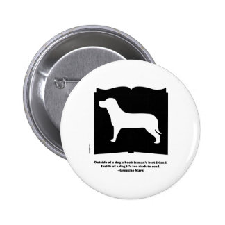Dog Book Groucho Quote Buttons