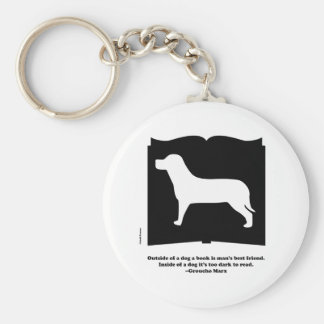 Dog Book Groucho Quote Keychain