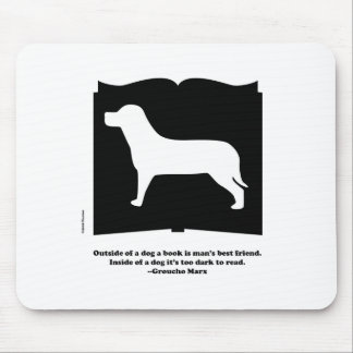 Dog Book Groucho Quote Mouse Pad