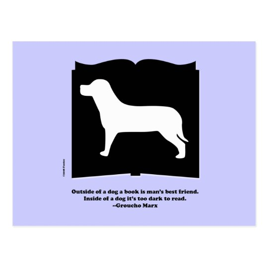 Dog Book Groucho Quote Postcard