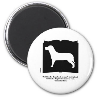 Dog Book Groucho Quote Refrigerator Magnets