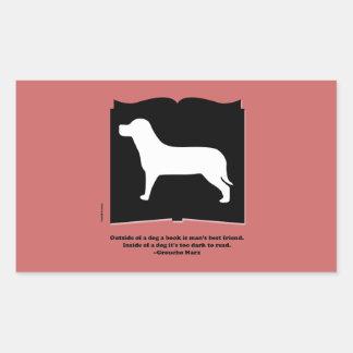 Dog Book Groucho Quote Rectangular Sticker