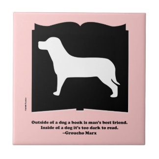 Dog Book Groucho Quote Tile