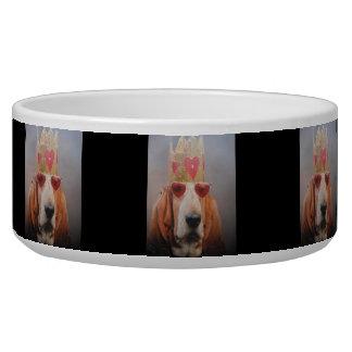 Dog Bowl Basset Hound King