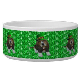 Dog Bowl Basset Hound St Patrick's