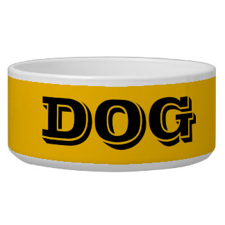 Dog Bowl by Janz Large Gold