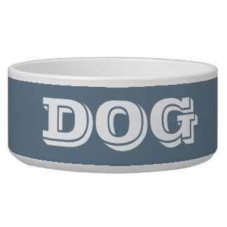 Dog Bowl by Janz Large in Slate Gray