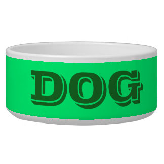 Dog Bowl by Janz Large in Spring Green