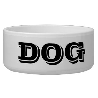Dog Bowl by Janz Large White Smoke