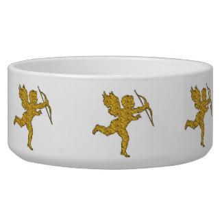 Dog Bowl Cupid Gold