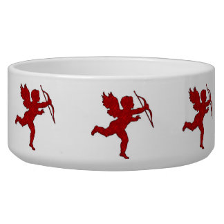 Dog Bowl Cupid Red