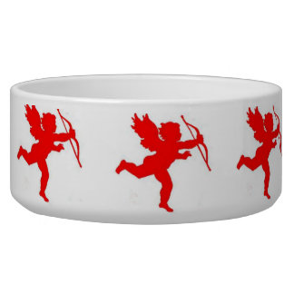 Dog Bowl Cupid Red Plain