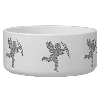 Dog Bowl Cupid Silver