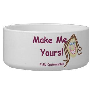 Dog Bowl ~ fully customizable pet bowl