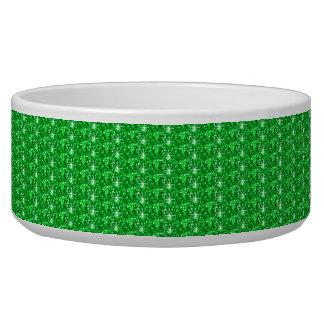 Dog Bowl Green Glitter