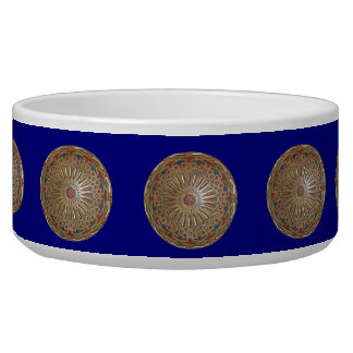 Dog Bowl Morrocon Beauty on Blue