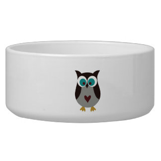 Dog Bowl - Owl