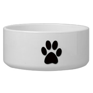 Dog Bowl Paw Print