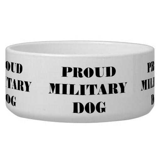Dog Bowl Proud Military Dog