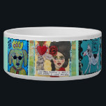 "DOG BOWL - THE MORE PEOPLE I MEET<br><div class=""desc"">The more I like my dog,  pound pups rule,  my human is a rescue</div>"