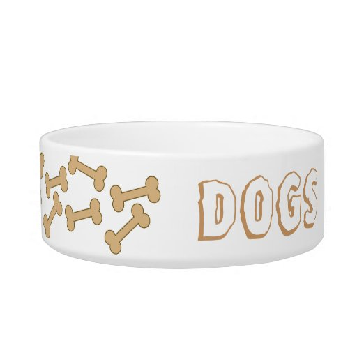 Dog Bowl With Customizable Text & Image
