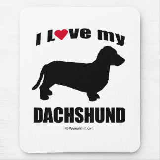 """DOG BREED"" - DACHSUND - ""I LOVE MY DACHSUND"" MOUSE PAD"