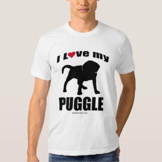 """DOG BREED"" - PUGGLE - ""I LOVE MY PUGGLE"" T SHIRT"